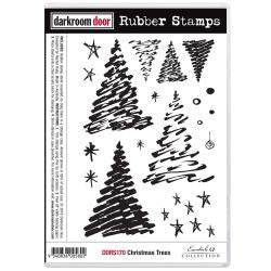 "Darkroom Door - Cling Stamps 7""x5"" - Christmas Tree"