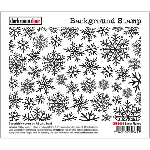 "Darkroom Door - Background Cling Stamps 4""x6"" - Snow Flakes"