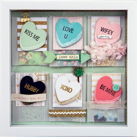 Sizzix Framelits Dies with Stamps By Lindsay Serata My Valentine
