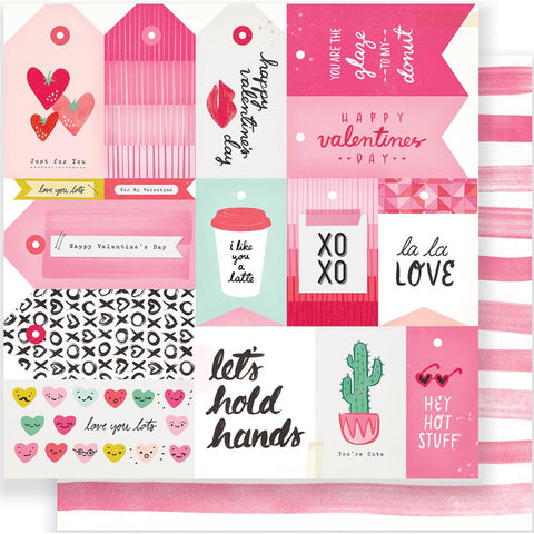 "Crate Paper - Heart Day Double-Sided Cardstock 12""X12"" - La, La Love"