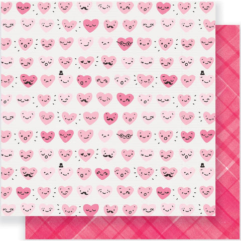 "Crate Paper - Heart Day Double-Sided Cardstock 12""X12"" - Happy Heart"