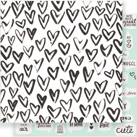 "Crate Paper - Heart Day Double-Sided Cardstock 12""X12"" - Snuggles"