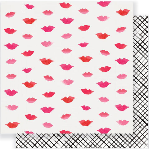 "Crate Paper - Heart Day Double-Sided Cardstock 12""X12"" - Pucker Up"