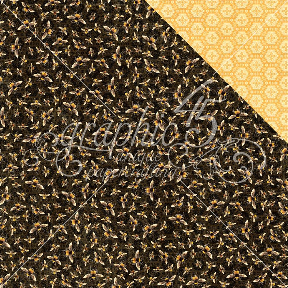 "Graphic 45 - Nature Sketchbook Double-Sided Cardstock 12""X12"" - Harmonious Honeybees"