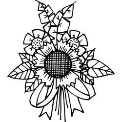 "Spellbinders Cling Stamp 2.75""X4"" - Sunflower Bunch"