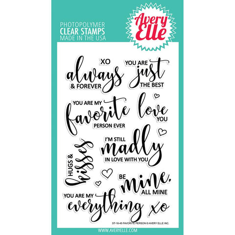 "Avery Elle Clear Stamp Set 4""X6""- Favorite Person"