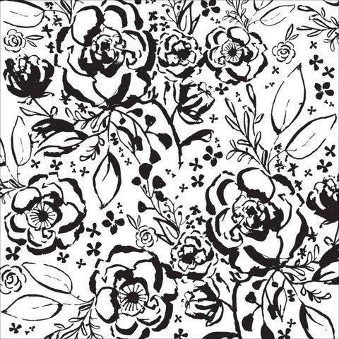 "Kaisercraft - Wildflower Spot Varnish Cardstock 12"" x 12"" - Floral"