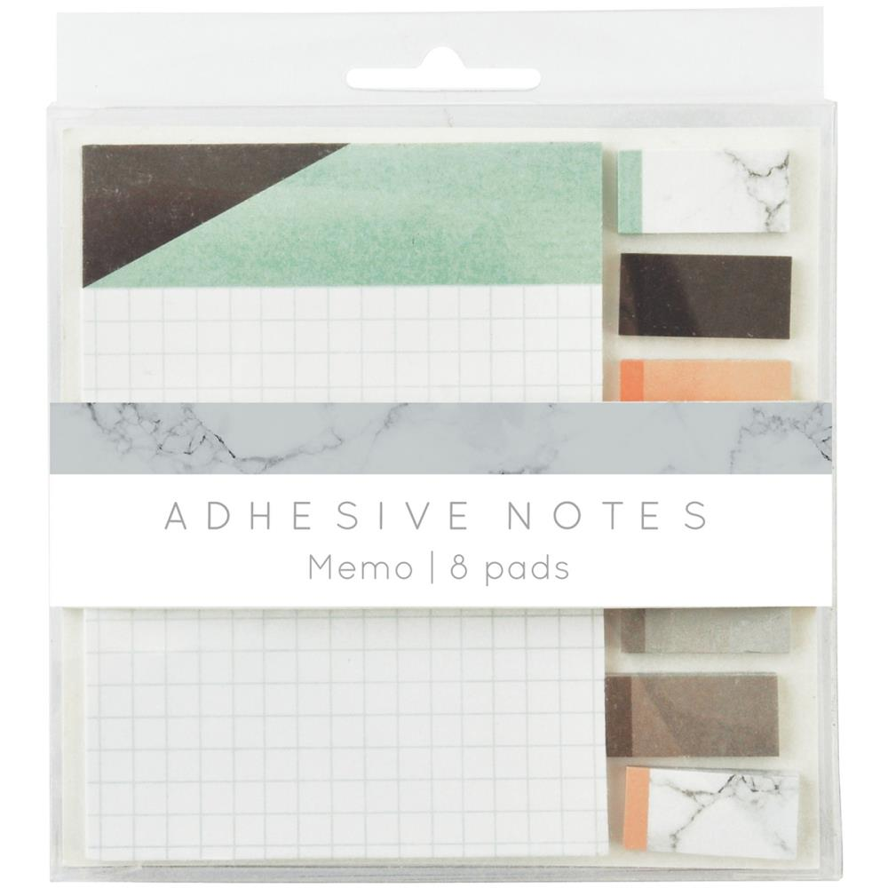 "July4Special Kaisercraft Planner Adhesive Note Pads 4""X4"" 8/Pkg - Memo"
