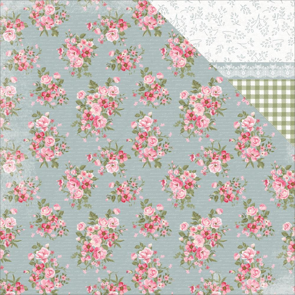 "Kaisercraft - High Tea Double-Sided Cardstock 12"" x 12"" - Tea Leaves"