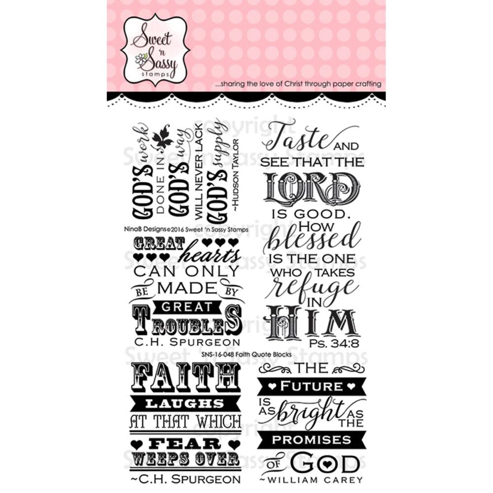 "Sweet 'n Sassy, Creative Worship Clear Stamps 4""X6"" - Faith Quotes"