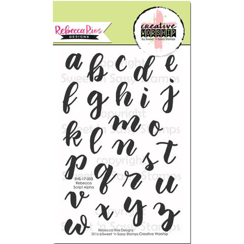 "Sweet 'n Sassy, Creative Worship Clear Stamps 4""x6"" - Rebecca Script Alphabet"