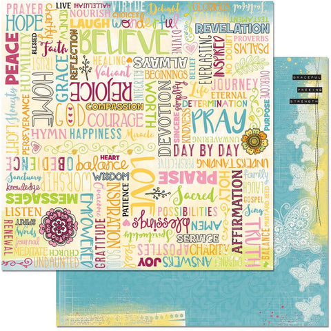 "BoBunny - Faith Double-Sided Cardstock 12"" x 12"" - Forever"