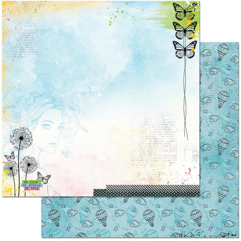 "BoBunny - Faith Double-Sided Cardstock 12"" x 12"" - Heaven Sent"