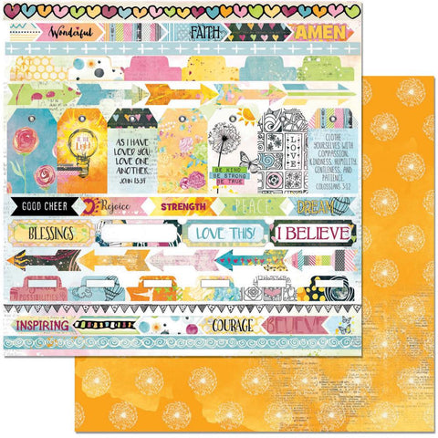 "BoBunny - Faith Double-Sided Cardstock 12"" x 12"" - Rejoice"