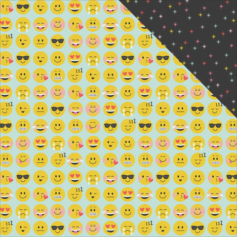 "Simple Stories- Emoji Love Double-Sided Cardstock 12""X12"" - Yay (Availability: March 17, 2017)"
