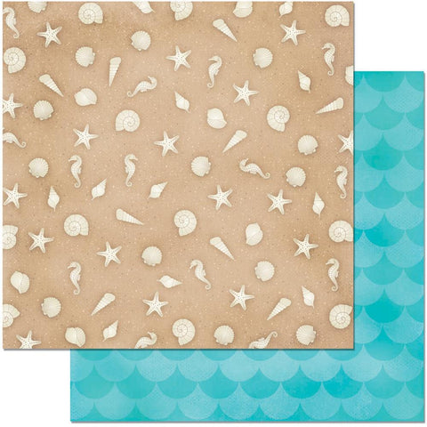 "BoBunny - Make A Splash Double-Sided Cardstock 12"" x 12"" - Sandcastle"