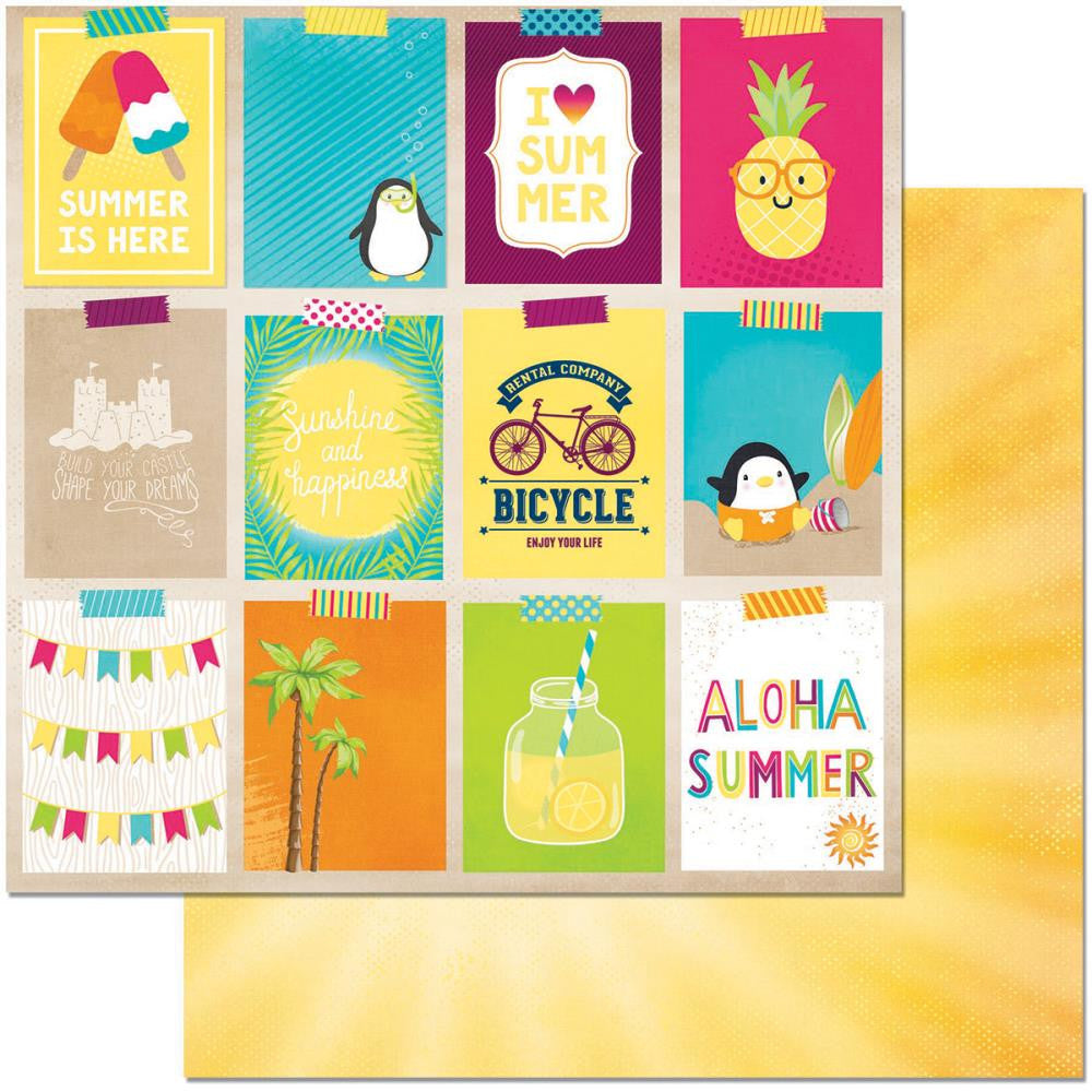 "BoBunny - Make A Splash Double-Sided Cardstock 12"" x 12"" - Vacation"