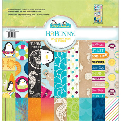 "BoBunny - Make A Splash Collection Pack 12"" x 12"""