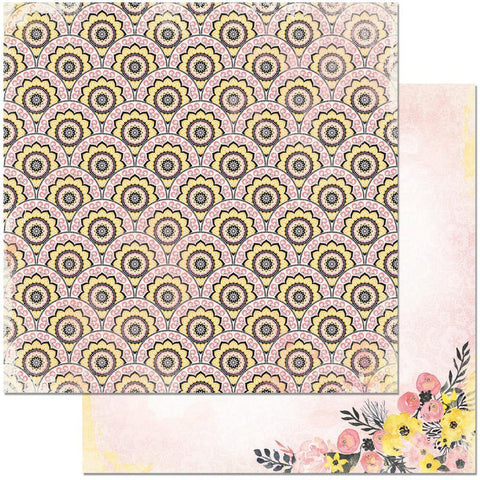 "BoBunny - Petal Lane Double-Sided Cardstock 12"" x 12"" - Posies"
