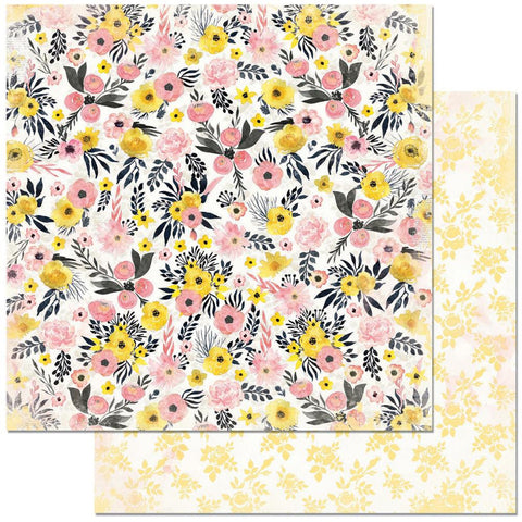 "BoBunny - Petal Lane Double-Sided Cardstock 12"" x 12"" - Blooms"