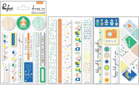 Pinkfresh Studio - Dream On Washi Stickers