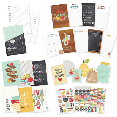 Simple Stories - Carpe Diem A5 Planner Insert Set - Recipe