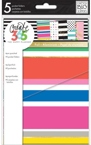 ***Pre-Order*** Me & My Big Ideas - Create 365 The Happy Planner - Mini Planner Pocket Folders - Multi Dots