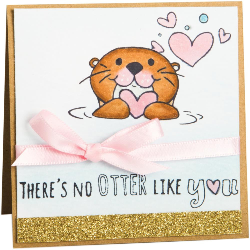 Sizzix - Clear Stamps By Katelyn Lizardi - Otterly In Love