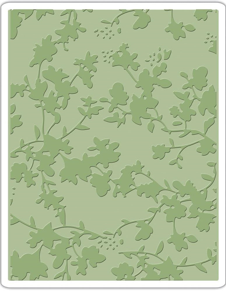 Sizzix - Texture Fades A2 Embossing Folder By Tim Holtz - Floral