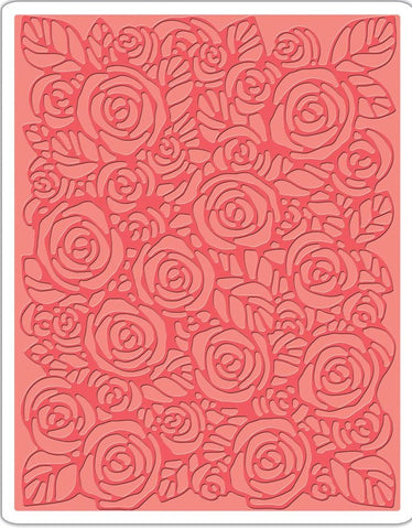 Sizzix - Texture Fades A2 Embossing Folder By Tim Holtz - Roses