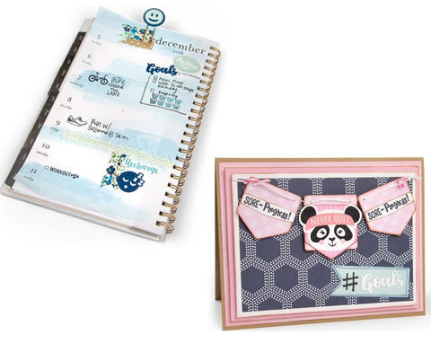 ***Pre-Order*** Sizzix - Framelits Dies with Stamps By Katelyn Lizardi - Health & Fitness Planner