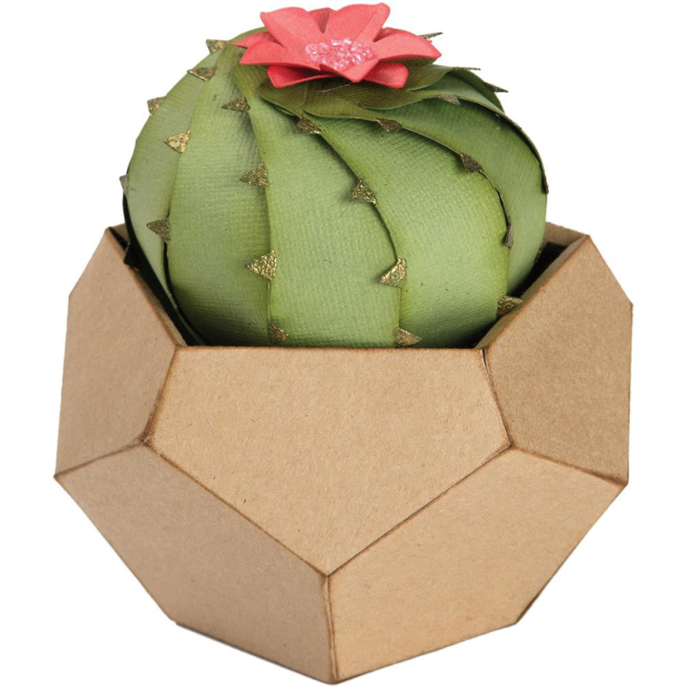 Sizzix - Thinlits 3D Die Set By Lynda Kanase - Barrel Cactus 3D