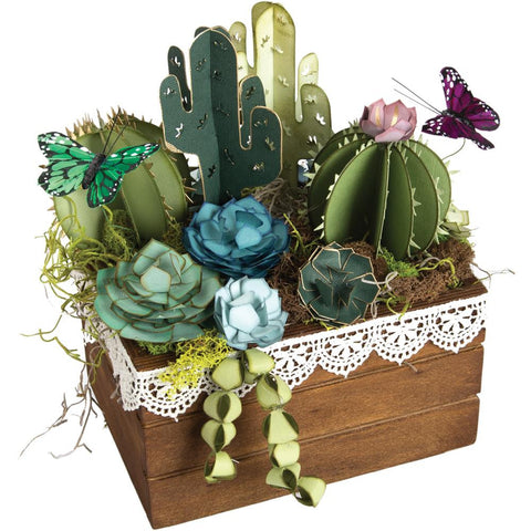 (Pre order) Sizzix - Thinlits Die Set By Lynda Kanase - 2D & 3D Succulents ( available march 7th)