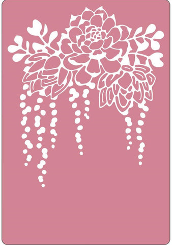 Sizzix - Textured Impressions Embossing Folder By Lynda Kanase - Elegant Succulents
