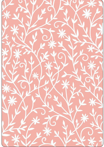 Sizzix - Textured Impressions Embossing Folder By Katelyn Lizardi - Flower Embellishments