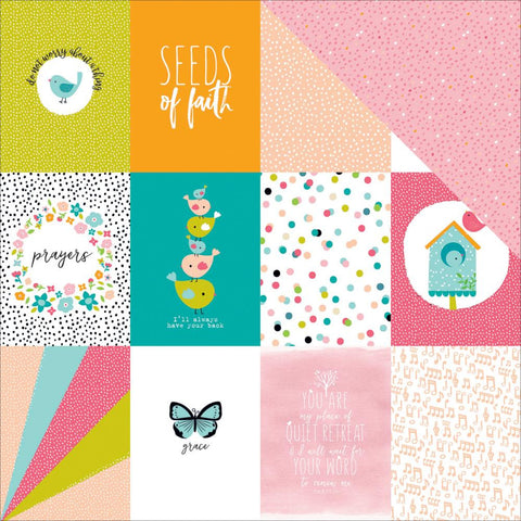 "Bella Blvd - Illustrated Faith Seeds Of Faith Cardstock 12""X12"" - 3x4"