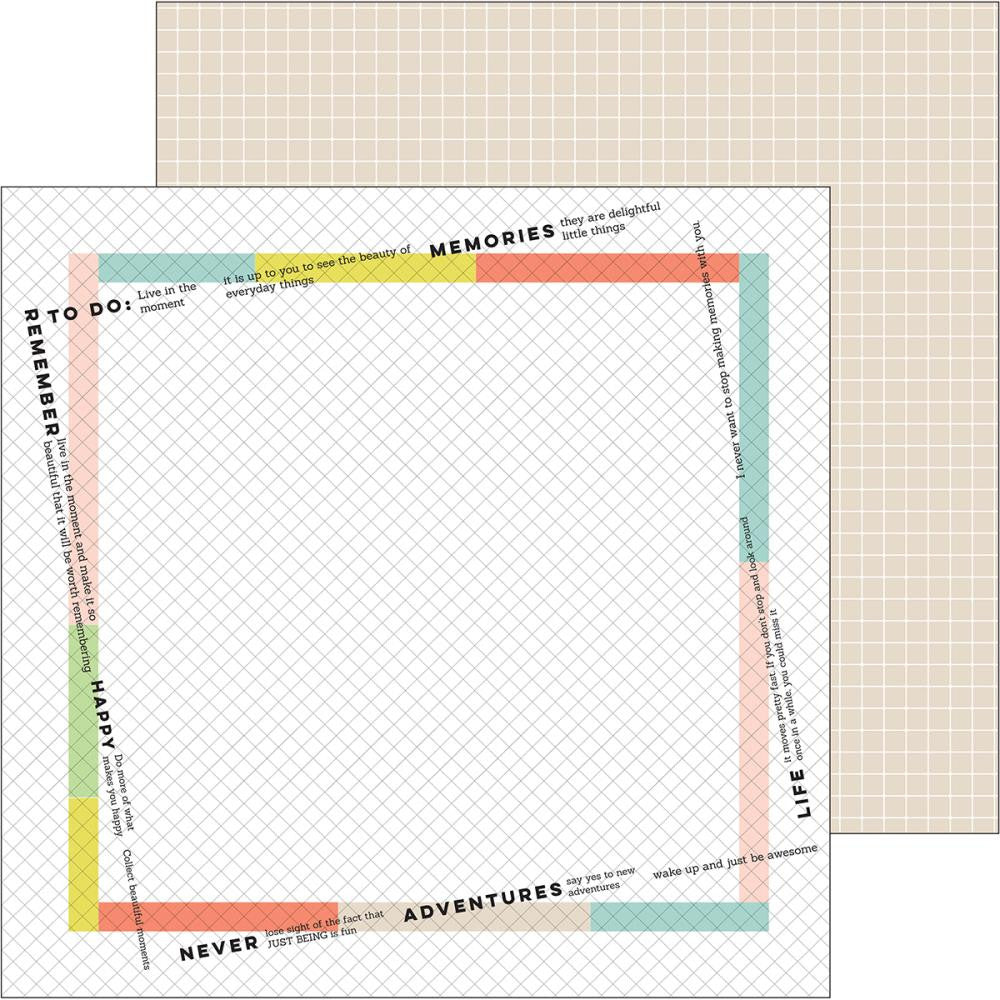 Pinkfresh Studio - Live More Double-Sided Cardstock - Freedom