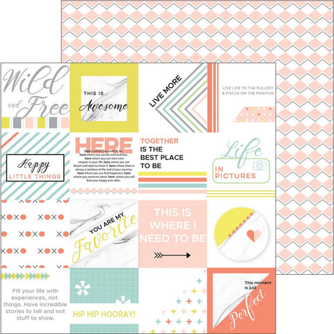 ***Pre-Order*** Pinkfresh Studio - Live More Double-Sided Cardstock - Rise