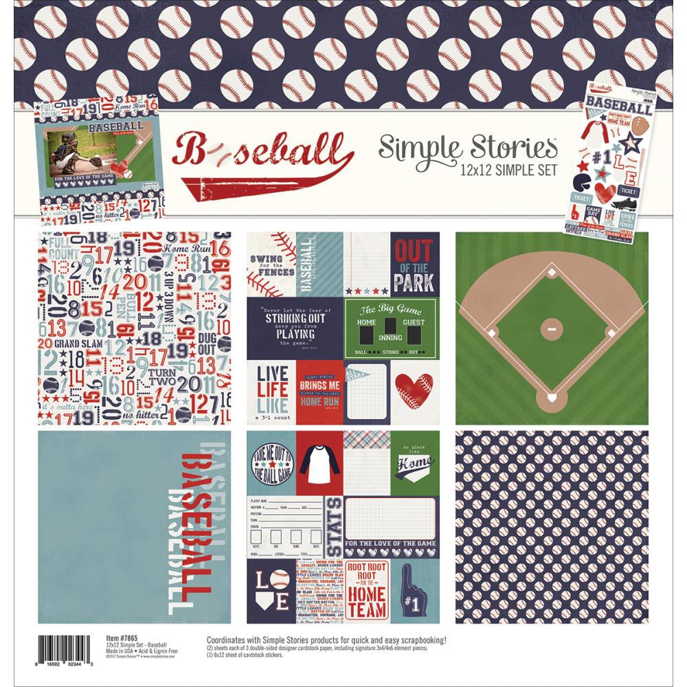 Simple Stories - Simple Sets Collection Kit - Baseball