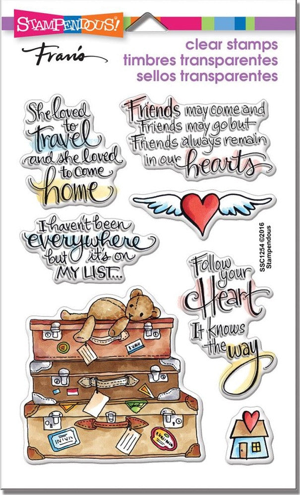 "Stampendous - Perfectly Clear Stamps 7.25"" x 4.625"" - Travel Home"
