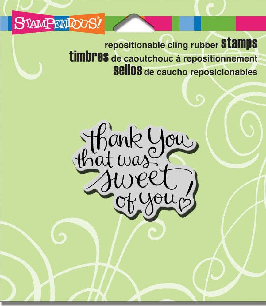 "Stampendous - Cling Stamps 4.75"" x 4.5"" - Sweet Of You"