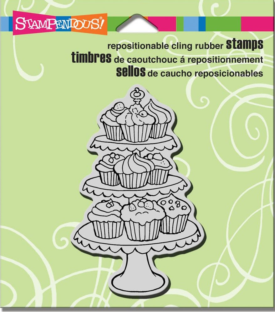 "Stampendous - Cling Stamps 4.75"" x 4.5"" - Cupcake Tiers"