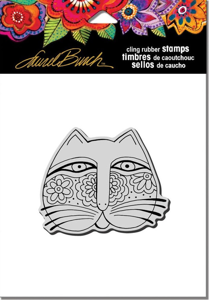 "Stampendous - Laurel Burch Cling Stamps 4.75"" x 4.5"" - Feline Face"