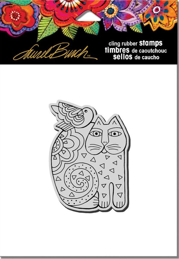 "Stampendous - Laurel Burch Cling Stamps 4.75"" x 4.5"" - Feline Friend"