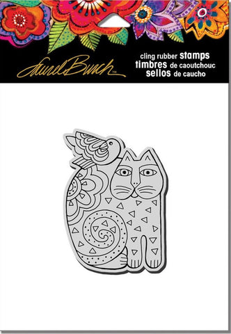 "Available -02/05 Stampendous - Laurel Burch Cling Stamps 4.75"" x 4.5"" - Feline Friend"