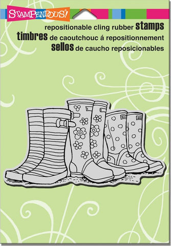 "Stampendous - Cling Stamps 6.5"" x 4.5"" - Puddle Boots  (available 03/07)"