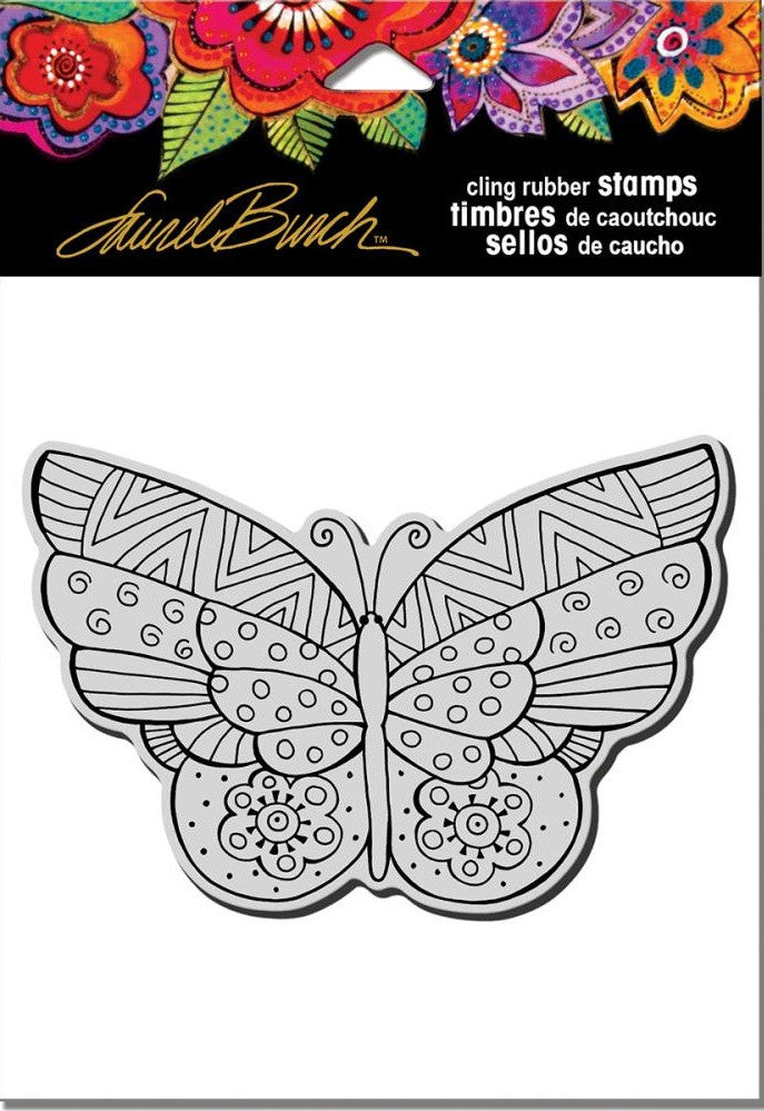 "Stampendous - Laurel Burch Cling Stamps 6.5"" x 4.5"" - Flutterbye"