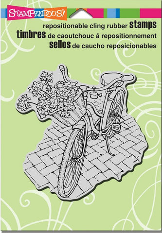 "Stampendous - Cling Stamps 6.5"" x 4.5"" - Bicycle Basket"