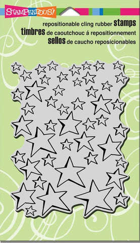 "Stampendous - Cling Stamps 7.75"" x 4.5"" - Oh My Stars"
