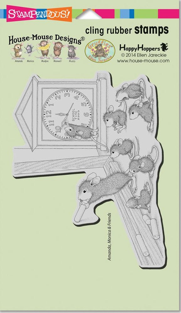 "Stampendous - House Mouse Cling Stamps 7.75"" x 4.5"" - Teacher Time"